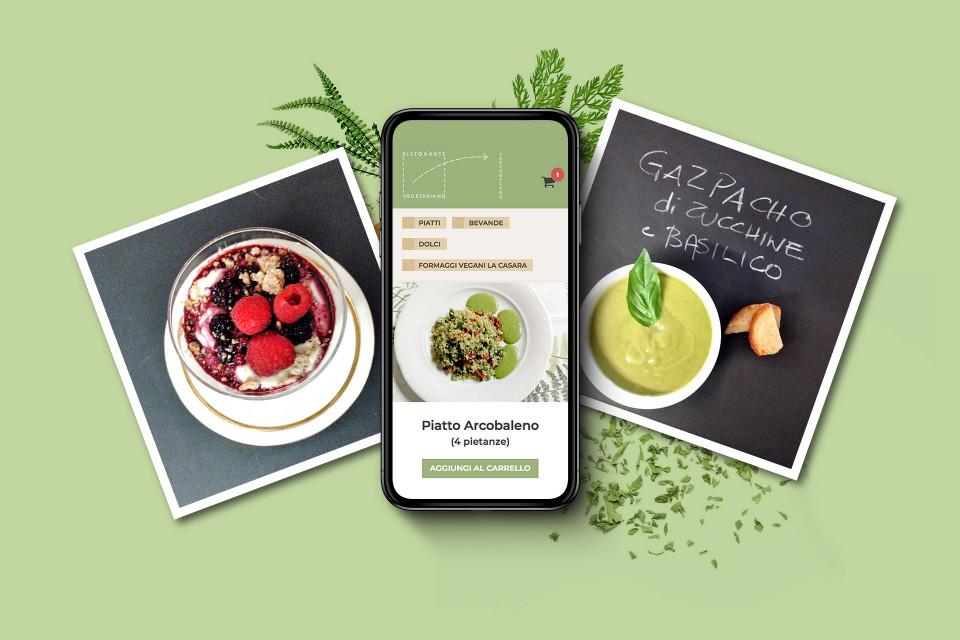 Il sito web realizzato per il ristorante vegetariano L'Arcobaleno di Brescia